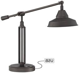 Bronze Turnbuckle LED Desk Lamp with USB Port