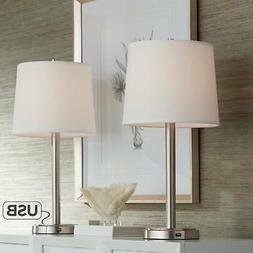 Set Of 2 Camile Usb Port Table Lamps