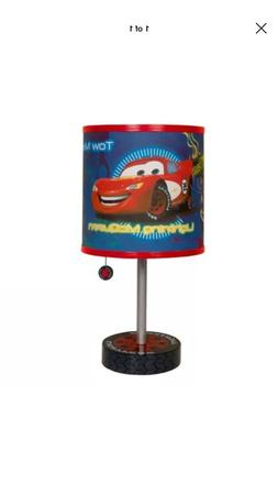 Disney Cars Table Lamp Nightstand Light Nursery Bedroom Deco