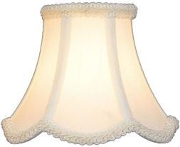 Lite Source CH527-6 Bell Chandelier Shades Shades Small; Whi