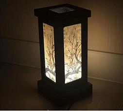 """Cherry Blossom White Black Pink Painting 11"""" Wood Bedside or"""