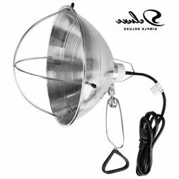 """Simple Deluxe Clamp Lamp Light with 10.5"""" Aluminum Reflector"""