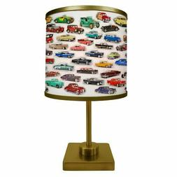 ArtLight Classic Car Collage Table Lamp, Multicolor