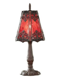 Victorian Trading Co Gothic Crimson Red Stained Glass Table