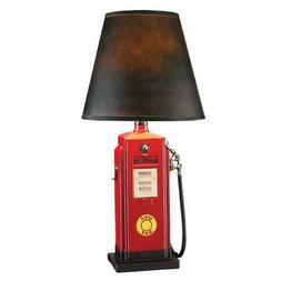 Collectible Fuel Chief Gas Pump Sculpture Statue Table Lamp