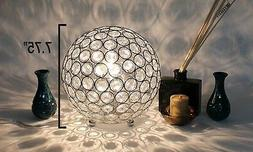 Table Lamp Crystal Ball Light Chrome Sequin Home Lighting Li