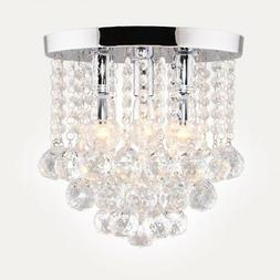 "Surpars House Crystal Chandelier,3 Lights,11"" W, 10"" H,Silve"