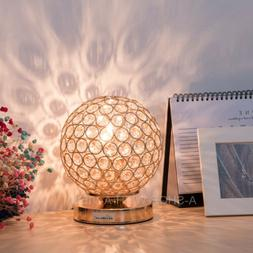 Crystal Globe Table Lamp Bedside Nightstand Desk Reading  Be