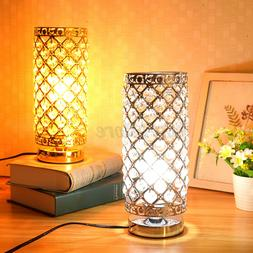 Crystal Table Lamp Desk Reading Lamp Bedside Nightstand Bedr