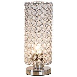 ZEEFO Crystal Table Lamp, Nightstand Decorative Room Desk Ni