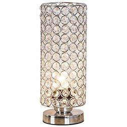 ZEEFO Crystal Table Lamp, Nightstand Decorative Room Desk La