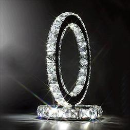 Crystal Table Lamps,LED Crystal Lamp Creative Stainless St