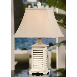 Crestview Collection CVAQP934 Seaside Table Lamp Gray Washed