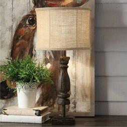 Crestview Collection CVAVP910 Wooden Relic Table Lamp Rustic