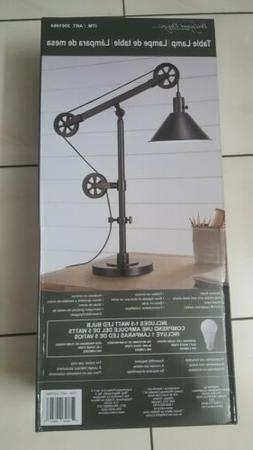 Bridgeport Designs Pulley Adjustable Arm Table Lamp Bronze F