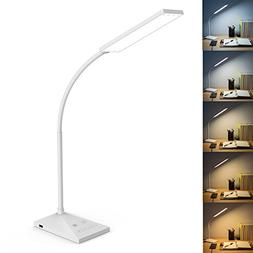 RAOYI LED Desk Lamp Eye-Caring Table Lamps, 5 Color Modes wi