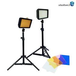 LimoStudio Dimmable 160 LED Video Light Lamp Panel for DSLR