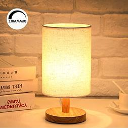 Dimmable Bedside Desk Table Lamp Kit - Wood NightStand Lamp,