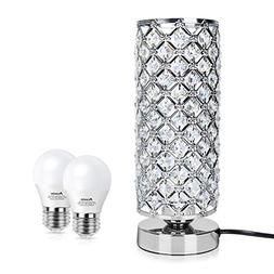 Dimmable Crystal Table Desk Lamp, Acaxin Touch Control Bedsi