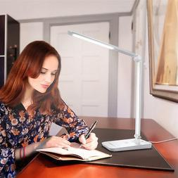 8W Dimmable LED Desk Lamp Touch Sensitive Office Read Book F