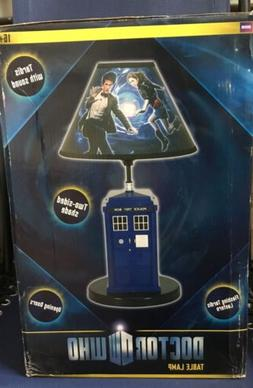 Doctor Who Tardis Table Lamp Collectible Light Sound Effects