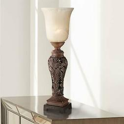 """Double Bronze 24"""" High Console Lamp by Regency Hill"""