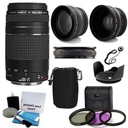 Canon EF 75-300mm f/4-5.6 III Telephoto Zoom Lens Kit with 2