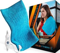 MIGHTY BLISS™ Large Electric Heating Pad for Back Pain and