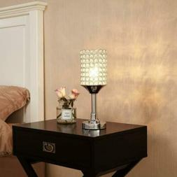 Elegant Crystal Beaded Table Lamp, Small Cute Night Side Lam