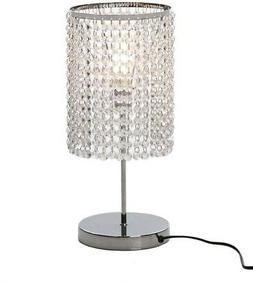 Surpars House Elegant Crystal Silver Table Lamp
