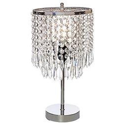 POPILION Elegant Decorative Chrome Living Room Bedside Cryst
