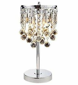 Elegant Modern Chrome Crystal Chandelier For Bedroom Nightst