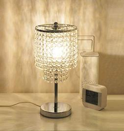 Surpars House Elegant Raindrop Crystal Table Lamp for Bedroo
