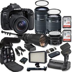 Canon EOS 80D Digital SLR Camera with Canon EF-S 18-55mm f/3