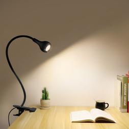 Flexible LED Table lamp USB Desk Holder Clip Bed Study Readi
