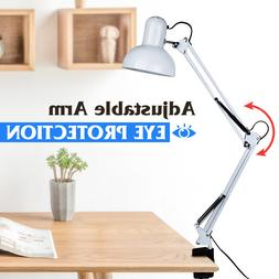 Flexible Swing Arm Clamp Mount Lamp Office Studio Home Table