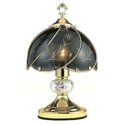 Floral Touch Table Lamp, Gold, Black, Metal, Standard, Touch