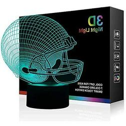 Football Lighting & Ceiling Fans Helmet 3D Night Light, Beds