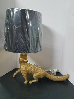 Fox Table Lamp, Black/Gold- J. Hunt, NEW IN BOX, FREE SHIPPI