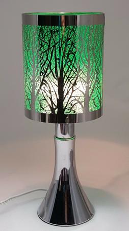 Fragrance ** Stainless Steel Table Touch Lamp Tree  Silver c
