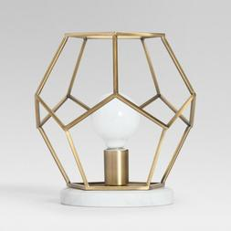 Geometric Modern Table Top Desk Lamp with Marble Accent Lamp