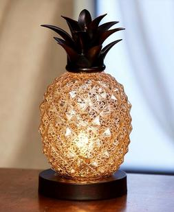 Glass Pineapple Table Lamp Tropics Theme Home Decorative Acc