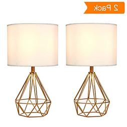 SOTTAE Golden Hollowed Out Base Modern Lamp Bedroom Livingro