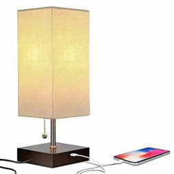Brightech Grace LED USB Bedside Table Desk Lamp Modern Lamp