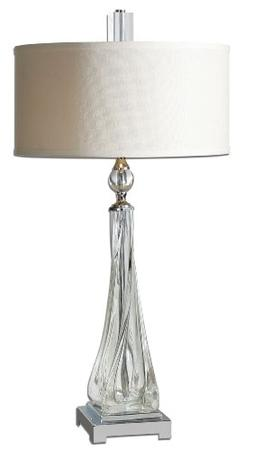 Uttermost Grancona Twisted Glass Table Lamp with Thick, Twis