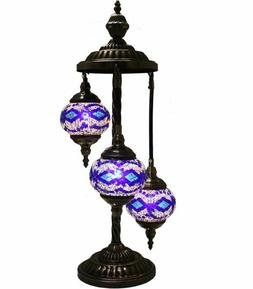 hand made,turkish,moroccan mosaic lamp, glass table 3 lamp l