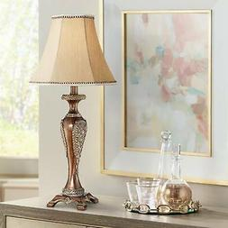 Hanna Bronze Candlestick Table Lamp