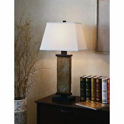 Kenroy Home Hanover Table Lamp, Natural Slate