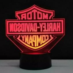 Harley Davidson logo 3D Acrylic LED Night Light 7 Color Home