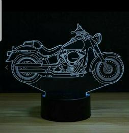 Harley Davidson Motorcycle 3D Acrylic LED Night Light 7 Colo